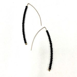 NWT Baublebar Cait threader earrings in black/gold